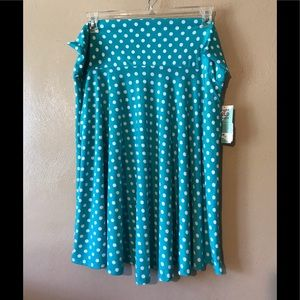 Honey & Lace teal polka dotted  3X